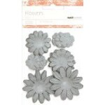 Ash paper flowers - mixed