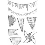 Save the Date - Pennants Clear Stamp