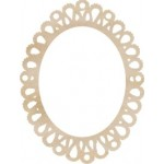Oval Lace Frame