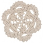 Cream Scallop Crochet Doilie