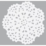 White Flower Crochet Doilie
