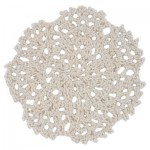 Cream Flower Crochet Doilie