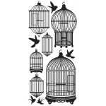 Bird Cages Rub Ons