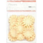 Cream paper flowers - medium