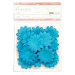Blue paper flowers - medium