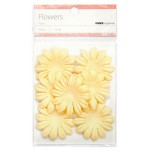 Cream paper flowers - large