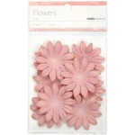 Dusty pink paper flowers - large