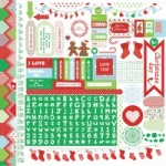 Santa's List Sticker Sheet SS199