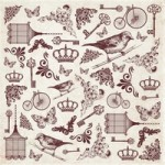 Lady Rose Sticker Sheet - Antique